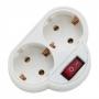 2 -es fali elosztó kapcsolóval 250V • 16A