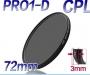Cirkuláris polárszűrő  vékony 72mm