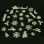 Foszforeszkáló műanyag formák tél 30 db/csomag