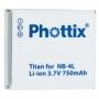 NB-4L akkumulátor utángyártott Phottix Li-ion