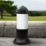 SAURO 500 kültéri állólámpa E27 fekete - opál