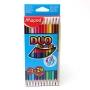 """Színes ceruza  DUO készlet, háromszögletű, MAPED """"Color`Peps"""", 12"""