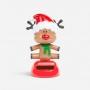 Szolár karácsonyi dekoráció rénszarvas 10 cm