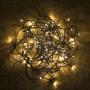 100 LED-es fényfüzér melegfehér