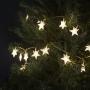 40 LED-es fényfüzér csillag meleg fehér