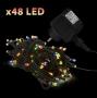 48 LED-es égősor kül/beltéri színes ~ 14,5 m