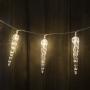 8 LED elemes fényfüzér jégcsap