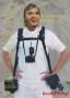 Acélbetétes Dupla vállpánt  2 fényképezőgéphez