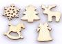 Karácsonyi  fa dekorációk natúr 50 db