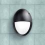MADDI-VE falilámpa E27 fekete - opál