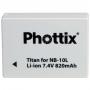 NB-10L akkumulátor utángyártott Phottix Li-ion