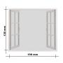 Szúnyogháló ablakra 130x150cm-fehér
