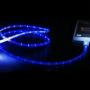 Világító iPhone 5S / iPod / iPad USB adat és töltőkábel 1 m