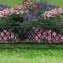 Virágágyás szegély / kerítés 45 x 35 cm műanyag