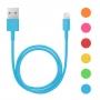 iPhone 5/6 adatkábel 6 szín - műanyag bevonat - 1m