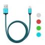 iPhone 5/6 adatkábel 4 szín - szövet bevonat - 1m